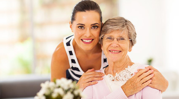 Image of In home nurse with Senior Citizen